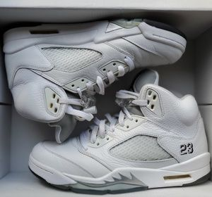 Air Jordan 5 Retro Metallic White/Silver